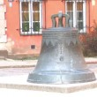 Cracked bronze bell in Warsaw — Stock Video #46347409