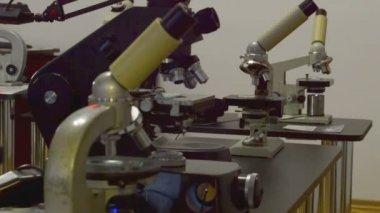 Biotechnology microscope — Stock Video