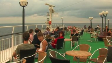 Tourists on  cruise-ship — Stock Video