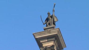 King Sigismund's Column — Stock Video