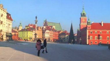 The old town in Warsaw — ストックビデオ