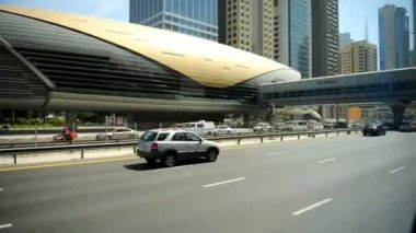 Metro station  in DUBAI — Stock Video