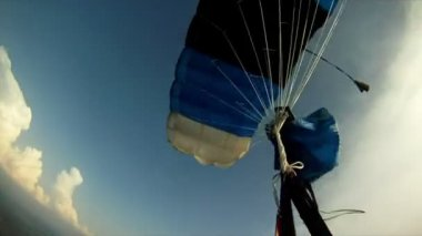 View from parachute jump — Stock Video