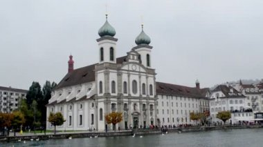 Switzerland Jesuit church — Stock Video