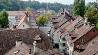 Switzerland houses Roofs — Stock Video
