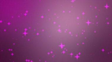 Glitter stars silhouettes — Stock Video