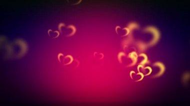 Shining hearts shapes — Stock Video