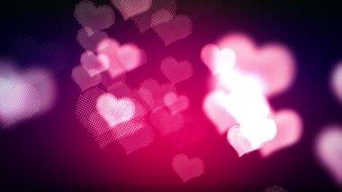 Formas de corações brilhantes — Vídeo Stock