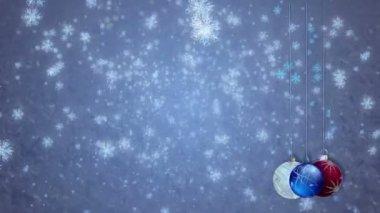 Vakantie sneeuwvlokken — Stockvideo