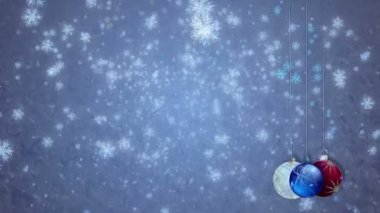 Tatil kar taneleri — Stok video