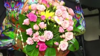 Rosen bouquet — Stockvideo