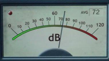 Electronic sound meter — Vídeo stock