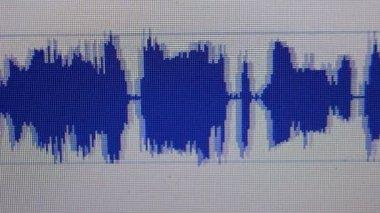 Niebieski graficzny dźwięku — Wideo stockowe