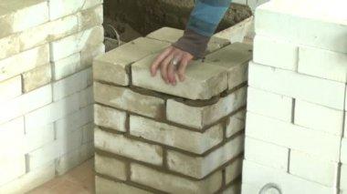 Brick wall — Stock Video