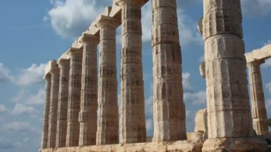 Timelapse Of Sounion Temple Poseidon — Stock Video