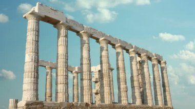 Timelapse Of Greek Columns — Stock Video