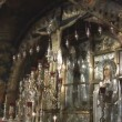 Stock Video: Holy Sepulcher cross