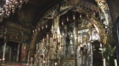 Holy Sepulcher cross — Stock Video