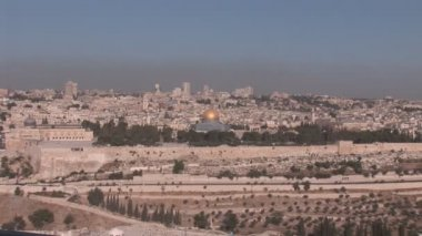 View of Old Jerusalem — Stock Video