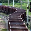 Freight train is moving — Видео