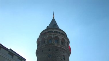 Galata Tower in Istanbul — Stock Video