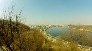 Dnipro river in Kyiv — Stock Video