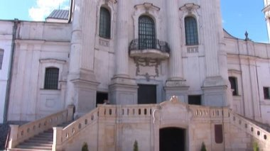 Fortified Carmelite monastery — Stock Video