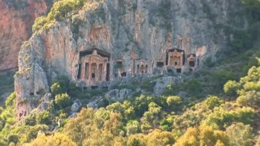 Lycian tombs — Stock Video