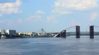 Dnipro bridges — Stock Video