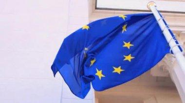 Bandeira da ue — Vídeo stock