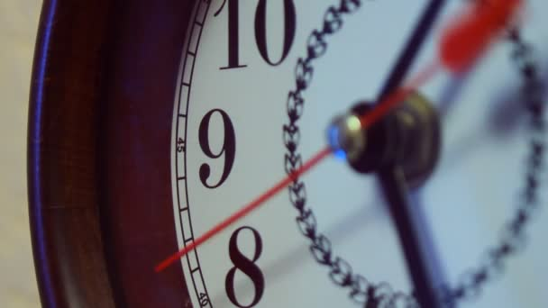 Reloj de pared — Vídeo de stock