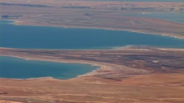 Dead Sea view from the mountain top — Stock Video