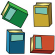 Isometric books — Stock Vector