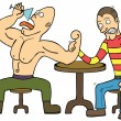 Arm Wrestling — Stock Vector