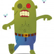 Walking Green Zombie - Stock Vector