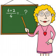 Stock Vector: Female mathematics teacher