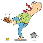 Se méfier du piège à rat — Vecteur