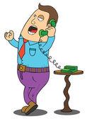 Man on Phone — Stock Vector