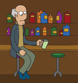 Oldman at Bar — Wektor stockowy