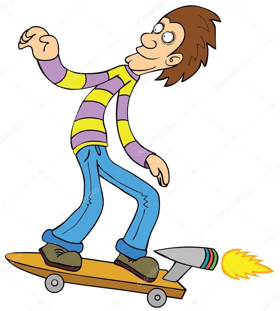 涡轮增压滑板 — 图库矢量图像08