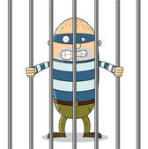 Bad guy in jail — Stockfoto