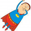 Stock Photo: Flying fat super hero