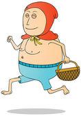脂肪红帽 — 图库照片