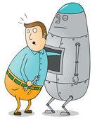 Robot Maintenance — Stock Photo