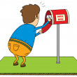 Stock Photo: Checking mailbox