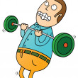 Weight lifting — Stock Photo