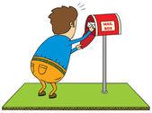 Checking mailbox — Stock Photo