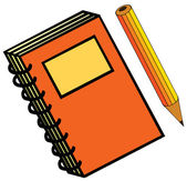 Notebook and pencil — Stock Photo