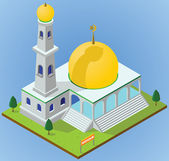 Isometric mosque — Stock Photo