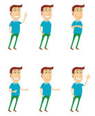 Standing man with various poses — Stock Photo